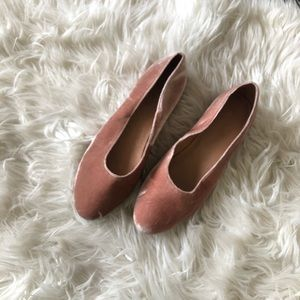 Gently Worn Madewell Pink Suede Flats